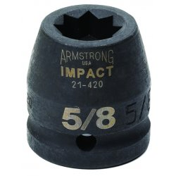 Armstrong Tools - 21-446 - 3/4IN DR IMPACT SKT 17/16IN 8 (Pack of 2)
