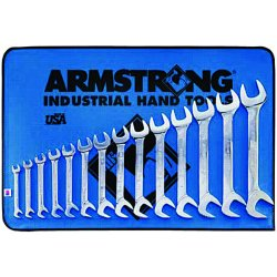 Armstrong Tools - 27-895 - 14-pc. Open End Angle Wrench Set 15 & 16