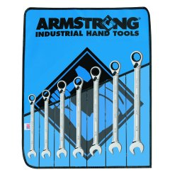 Armstrong Tools - 28-900 - 7 Pc Fractional Reversible Geared Wrench Set