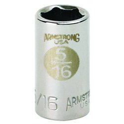 "Armstrong Tools - 37-015 - 1/4"" Dr Socket- 15mm Opg6-pt Std- C"