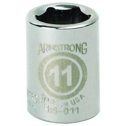 """Armstrong Tools - 38-006 - 3/8"""" Dr Socket- 6mm Opg6-pt Std- C"""