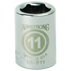 "Armstrong Tools - 38-008 - 3/8"" Dr Socket- 8mm Opg6-pt Std- C"