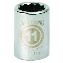 "Armstrong Tools - 38-115 - 3/8"" Dr Socket- 15mm Opg12-pt Std-"