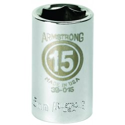 "Armstrong Tools - 39-018 - 1/2"" Dr Socket- 18mm Opg6-pt Std- C"