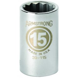 "Armstrong Tools - 39-124 - 1/2"" Dr Socket- 24mm Opg12-pt Std-"