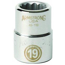 """Armstrong Tools - 40-160 - 3/4"""" Dr Socket- 60mm Opg12-pt Std-"""