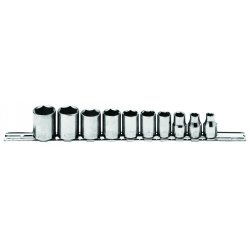 Allen Tool - 44-322A - 10pc Metric Skt Set 1/4