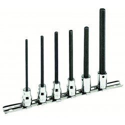 Armstrong Tools - 44-375 - 6 Piece 3/8-Inch Drive Metric Extra Long Hex Driver Socket Set
