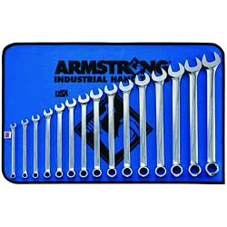 Armstrong Tools - 52-634 - 15-pc Metric Combinationwrench Set Fp