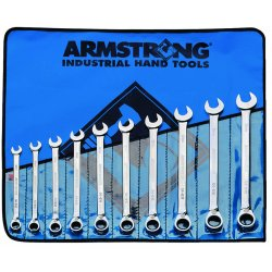 Armstrong Tools - 54-950 - 10 Pc Metric Reversiblegeared Wrench Set