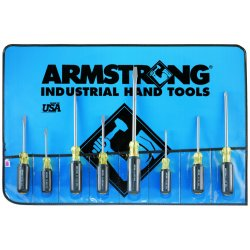 Armstrong Tools - 66-612 - 8pc. Slotted Phillips Cush. Grip Screwdriver Set