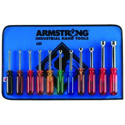 Armstrong Tools - 66-845 - Nut Driver Set- 11 Toolsroll