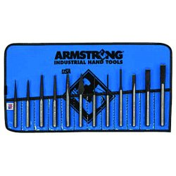 Armstrong Tools - 70-565 - Carbon Tool Steel Drive Pin Punch Set&#x3b; Number of Pieces: 12