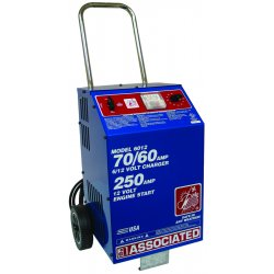 Associated Equipment - 6012 - 6/12 Volt Fast Chargerwheels Ul 70/60 Amp, Ea