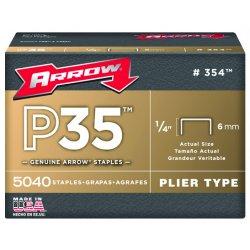 Arrow Fastener - 354 - Flat Crown Staple, 3/8x1/4, PK5040