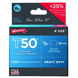 Arrow Fastener - 508TML - 1/2 inch T50 type staples box of 1250