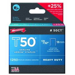 "Arrow Fastener - 50CT - 50000 T50 Ceiltile 17/32"" Staples 1-250/pk"