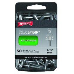 Arrow Fastener - RLA3/16IP - (50/pc) Long 3/16 Aluminum Rivet