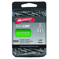 Arrow Fastener - RSA1/8IP - (100/pc) Short 1/8 Aluminum Rivet