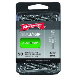 Arrow Fastener - RSA3/16IP - (50/pc) Short 3/16 Aluminum Rivet
