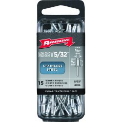 Arrow Fastener - RSST5/32 - (15/pc) Short 5/32 Stainless Rivet