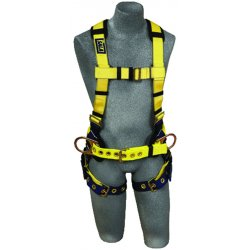 DBI / Sala - 1101656 - XL Construction Full Body Harness, 6000 lb. Tensile Strength, 420 lb. Weight Capacity, Blue/Yellow