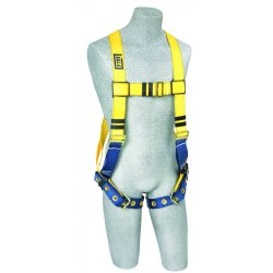 DBI / Sala - 1102025 - Universal Construction Full Body Harness, 6000 lb. Tensile Strength, 420 lb. Weight Capacity, Blue/Y