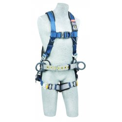 DBI / Sala - 1102386 - ExoFit Full Body Harness with 420 lb. Weight Capacity, Blue/Gray, M
