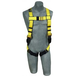 DBI / Sala - 1103321 - Universal General Industry Full Body Harness, 6000 lb. Tensile Strength, 420 lb. Weight Capacity, Bl