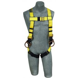 DBI / Sala - 1103512 - Universal Construction Full Body Harness, 6000 lb. Tensile Strength, 420 lb. Weight Capacity, Blue/Y