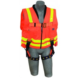 DBI / Sala - 1107404 - Universal General Industry Full Body Harness, 6000 lb. Tensile Strength, 420 lb. Weight Capacity, Or