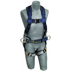 DBI / Sala - 1108501 - M Construction Full Body Harness, 6000 lb. Tensile Strength, 420 lb. Weight Capacity, Blue/Gray