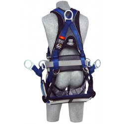 DBI / Sala - 1108651 - ExoFit Full Body Harness with 420 lb. Weight Capacity, Blue/Gray, M