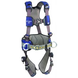 DBI / Sala - 1113139 - M Construction Full Body Harness, 6000 lb. Tensile Strength, 420 lb. Weight Capacity, Blue