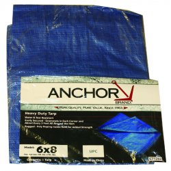 Anchor Brand - 1015 - Anchor 10' X 15' Blue Poly Tarp