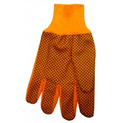 Anchor Brand - 1040 - 10 Oz Hi-vis Orange Plastic Dot Canvas Glove
