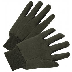 Anchor Brand - 101-1200 - Jersey General Purpose Gloves, Brown, 12 Pairs