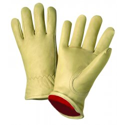 Anchor Brand - 4011-L - Driver's Cowhide Gloves - General Protection - Abrasion Resistant - Red Fleece Lining (Pack of 12)