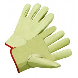 Anchor Brand - 4015M - Driver's Cowhide Gloves - General Protection - Abrasion Resistant - Unlined (Pack of 12)