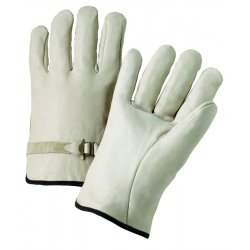 Anchor Brand - 101-4100L - 4000 Series Leather Driver Gloves, Natural, Large, 12 Pairs