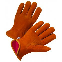 Anchor Brand - 4401-S - Driver's Cowhide Gloves - General Protection - Abrasion Resistant - Red Fleece Lining (Pack of 12)