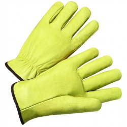 Anchor Brand - ANR4900L - 4000 Series Pigskin Leather Driver Gloves, Large, Yellow, 12 Pairs