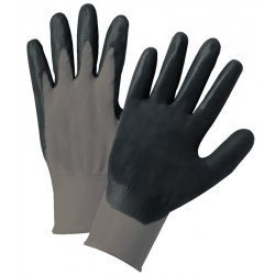 Anchor Brand - ANR6020S - Nitrile Coated Gloves, Gray/Black, Nylon Knit, Small, 12 Pairs