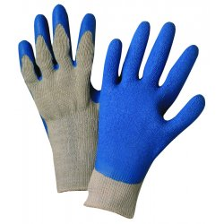 Anchor Brand - 6030-S - Anchor 6030s Premium Grey Knit Blue Latex Palm