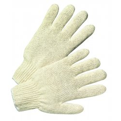 Anchor Brand - 101-6700 - String Knit Gloves, Large, Natural White, 12 Pairs