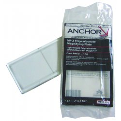"Anchor Brand - 101-MP-2-1.00 - Magnifier Lens, 2"" x 4 1/4"", Polycarbonate, 1.0 Diopter"
