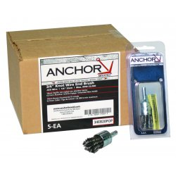 "Anchor Brand - 1EB14 - Anchor 1-1/8"" Knot End Brush Medium Ebb-41 .014, Ea"