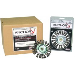 "Anchor Brand - 4STK20POP - Anchor 4"" Std Twist Knotwheel St-4 .020 Pop, Ea"