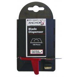 Anchor Brand - AB-11-100 - Anchor Blade Dispenser, Ea