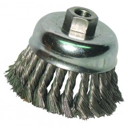"Anchor Brand - R3KC14S - Anchor 2-3/4"" Knot Cup Brush .0144 Ss 5/8-11 Ret, Ea"